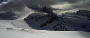 El viento haciendo de las suyas en glaciar de Tsa de Tsan