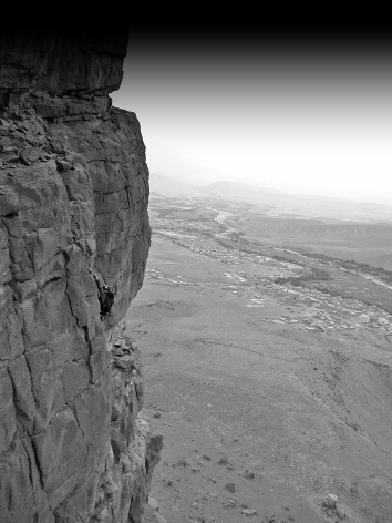 Escalando en Amellagou, Marruecos.