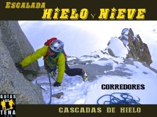 Escalada en hielo corredores en valle de tena y pirineos