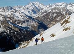 Vignemale y su lengua glaciar de Ossoued desde Gavarnie