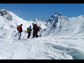 esqui de montaña alpes