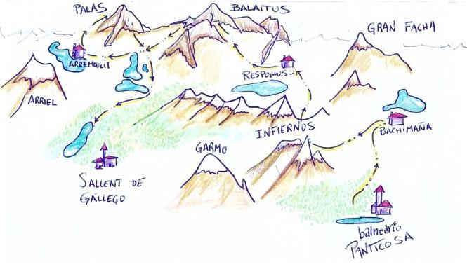 Dibujo Alta Ruta Valle de Tena 2