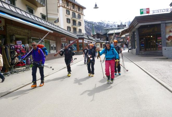 Aterrizando de nuevo en la sociedad. Zermatt