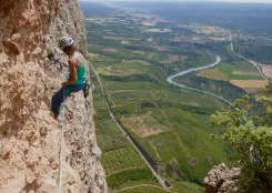 Climbing in Riglos