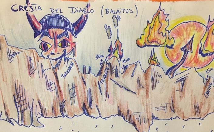 escala la cresta del diablo con guía